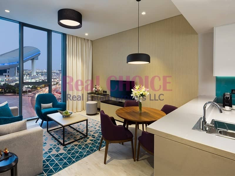 2 Fully Furnished 2BR Hotel Apartment|Near Metro