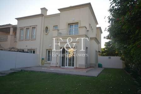 فیلا 2 غرفة نوم للايجار في الينابيع، دبي - Park And Lake Backing | 4E | Good Shape