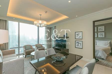 شقة 2 غرفة نوم للايجار في وسط مدينة دبي، دبي - 04 Unit I Very High Floor I Fully Serviced