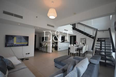 فلیٹ 3 غرف نوم للايجار في تلال الجميرا، دبي - Large Corner Unit | Partial Lake View | April |JI