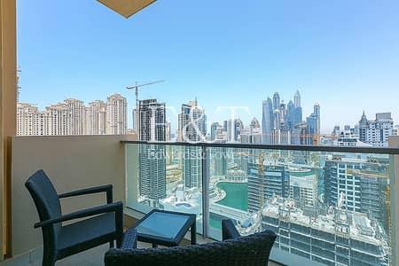 فلیٹ 1 غرفة نوم للايجار في دبي مارينا، دبي - Luxury Furnished | High Floor | Full Marina View