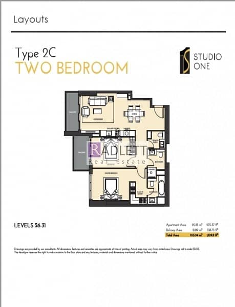 11 Brand New 2BR | Ready| Dubai Skyline View|Hot Deal