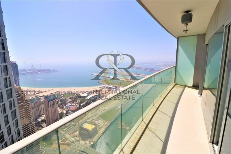 Sea and Marina View 1BR Rented High End Furnishing