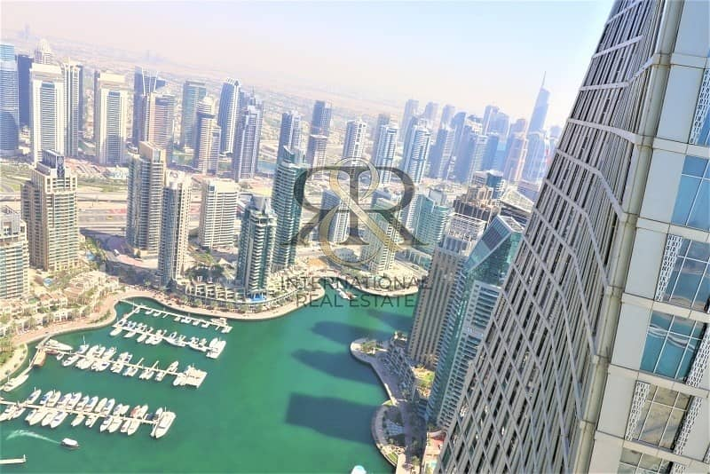 2 Sea and Marina View 1BR Rented High End Furnishing