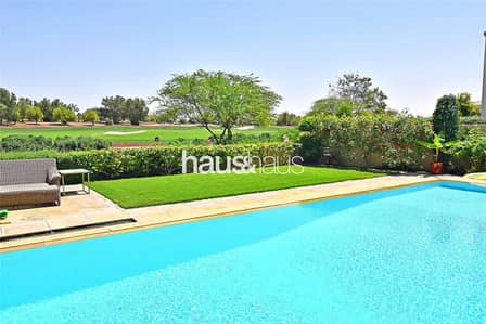 6 Bedroom Villa for Sale in Jumeirah Golf Estate, Dubai - One of a kind upgraded Tarragona | Basement
