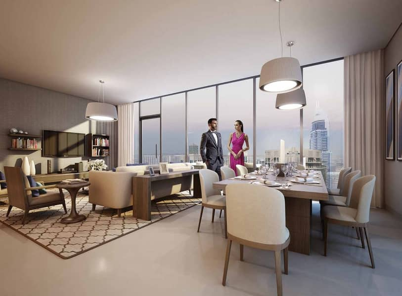 Opulent 3BR Apartment for sale in Downtown Dubai | Easy Payment Plan with 3 Years Post-Handover | 50% Off DLD Fee