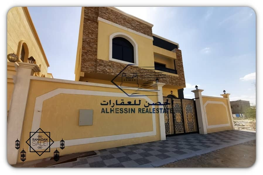 Modern Arab design villa and close to all services in the finest areas of Ajman