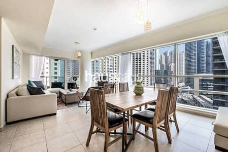 2 Bedroom Flat for Rent in Dubai Marina, Dubai - F.Furnished | Chiller Free | Central Marina