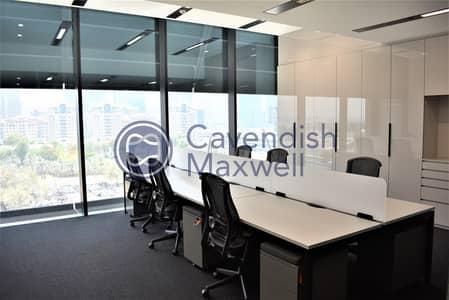 مکتب  للايجار في مركز دبي المالي العالمي، دبي - Furnished Office | Partitioned | Close to Metro |