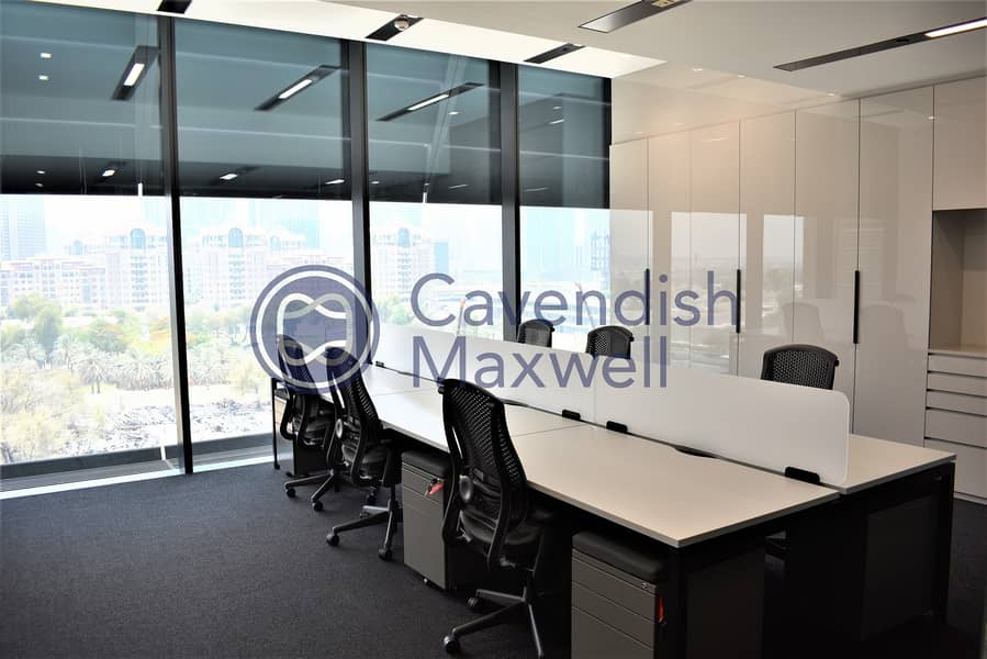 Furnished Office | Partitioned | Close to Metro |