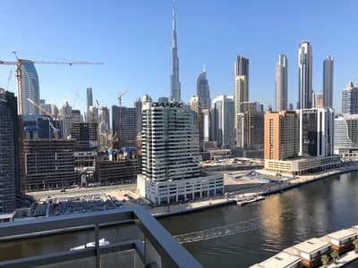 1 Bedroom Flat for Rent in Business Bay, Dubai - Amazing 1 bedroom|High floor|Burj view|Fully Furnished