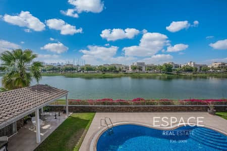 6 Bedroom Villa for Sale in The Meadows, Dubai - Extended Hattan L2 | Big Plot | Lake view