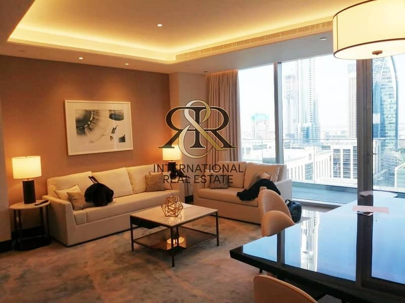 Luxurious 2 Bedrooms Furnished | Burj Khalifa View