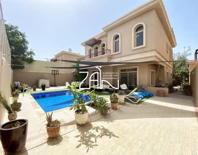 4 Bedroom Villa for Sale in Al Raha Golf Gardens, Abu Dhabi - Street View| Single Row| 4 BR Villa with Private Pool