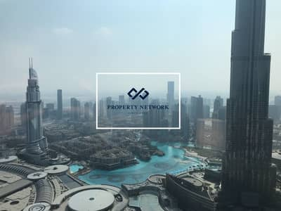 فلیٹ 4 غرف نوم للايجار في وسط مدينة دبي، دبي - Vacant | 4-Bed | Burj Khalifa View | Downtown