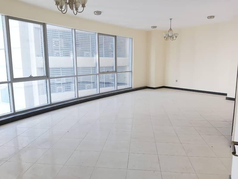 Chiller AC free, pool, Gym! Luxury 3 bhk balcony All Master Rooms! Maids R ! Buhaira cornchise al majaz area