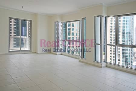 2 Bedroom Flat for Rent in Downtown Dubai, Dubai - Unfurnished 2BR Apartment|Amazing Pool View