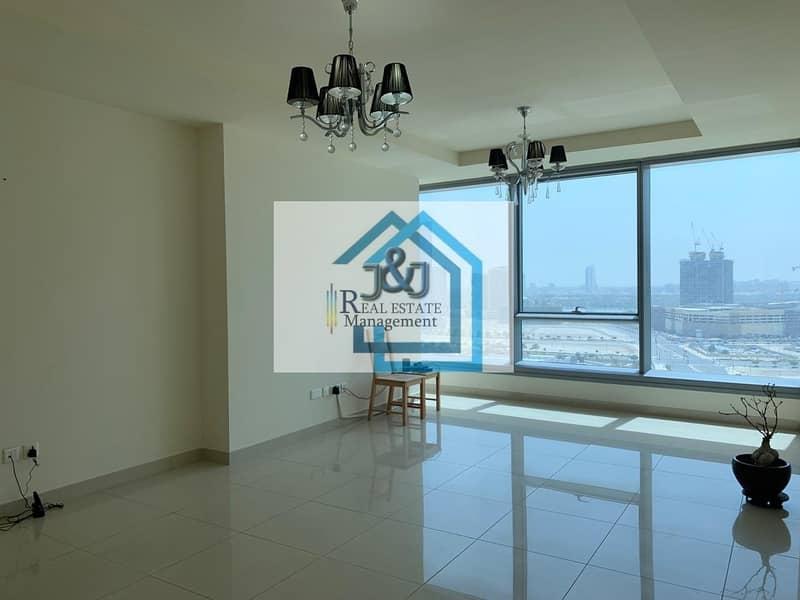 2 High Floor  1BR+Study Room Apt In Sun Tower+ Kitchen Appliance