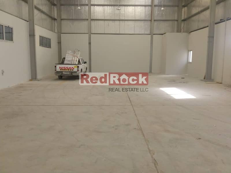 2 3400 Sqft with 25 KW Power in Jebel Ali fro AED 22/sqft Only