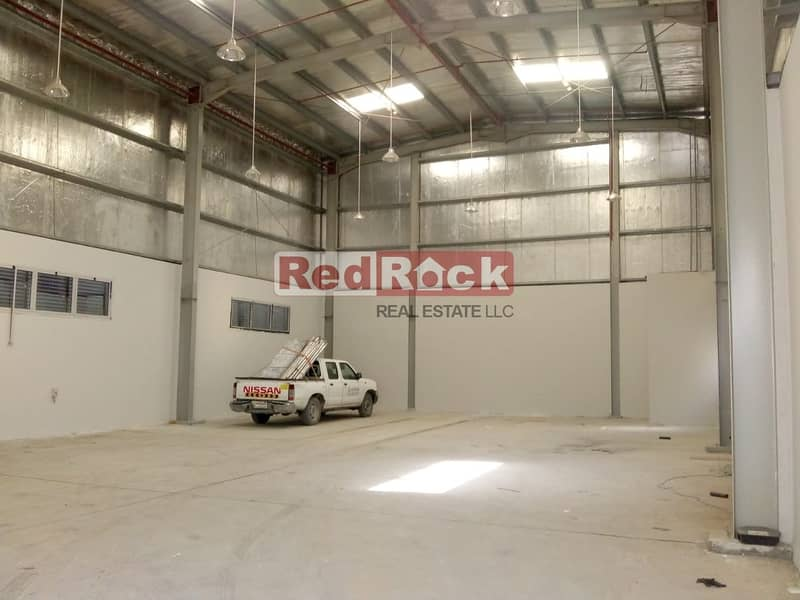 10 3400 Sqft with 25 KW Power in Jebel Ali fro AED 22/sqft Only