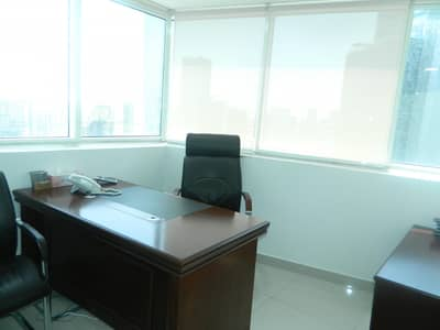 Office for Rent in Business Bay, Dubai - High floor|Furnished|Sun drenched | Canal view