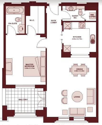 10 Pool View | Spacious | 1 Bedroom | Vacant