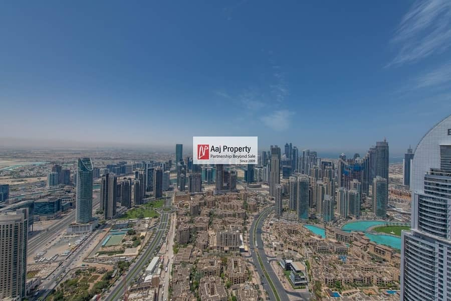 2 fantastic 2BR with iconic burj and fountain view & Entire Dubai Skyline ! Never see before