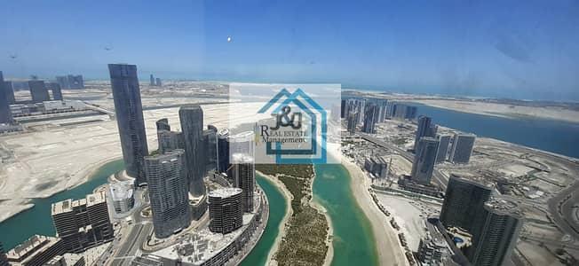 شقة 2 غرفة نوم للايجار في جزيرة الريم، أبوظبي - Sea View High Floor 2 BR + Maidroom Apt
