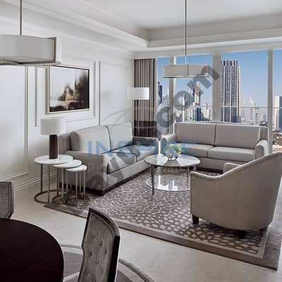 Fully Furnished and Serviced 2 BR in Address BLVD with DIFC view