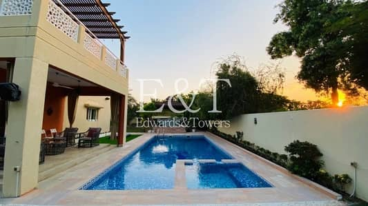 4 Bedroom Villa for Rent in The Meadows, Dubai - Private Pool | 4 Bedrooms + Maid | Lake Views | EH