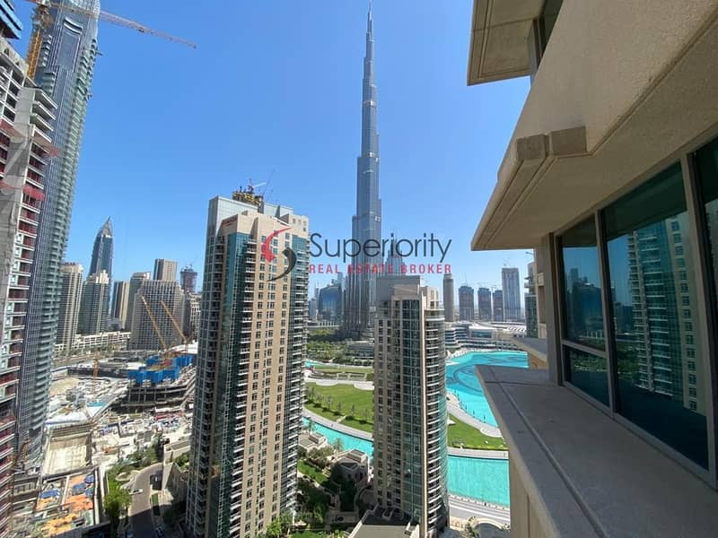 10 Burj Khalifa View - 2BR with Balcony for Rent