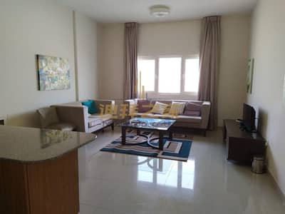 1 Bedroom Flat for Rent in Downtown Jebel Ali, Dubai - FULLY FURNISHED 1 BHK APARTMENT + BALCONY FOR RENT
