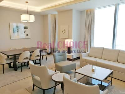 2 Bedroom Hotel Apartment for Rent in Downtown Dubai, Dubai - Fully Furnished 2BR Serviced Apartment|Great Views