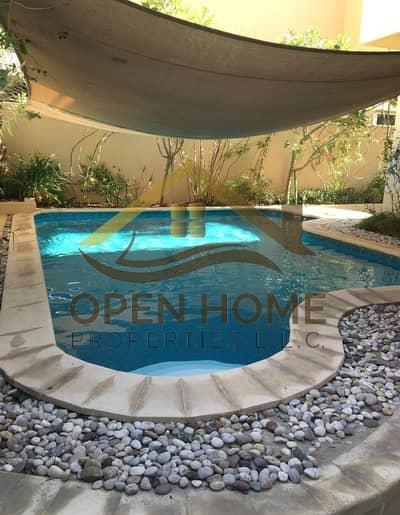 4 Bedroom Villa for Sale in Al Raha Gardens, Abu Dhabi - Adorable 4 Bedrooms Villa with Swimming pool| Single Row