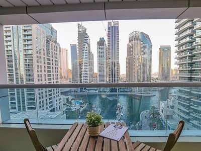 شقة 2 غرفة نوم للبيع في دبي مارينا، دبي - Upgraded | 2 Bed | Vacant on Transfer |  Marina View