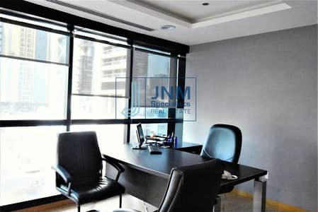 Office for Rent in Jumeirah Lake Towers (JLT), Dubai - Top Furnished Office | Lake View in JBC1