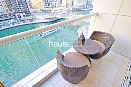 1 Bedroom Apartment for Rent in Dubai Marina, Dubai - F.Furnished | Stunning Marina Views | High Floor