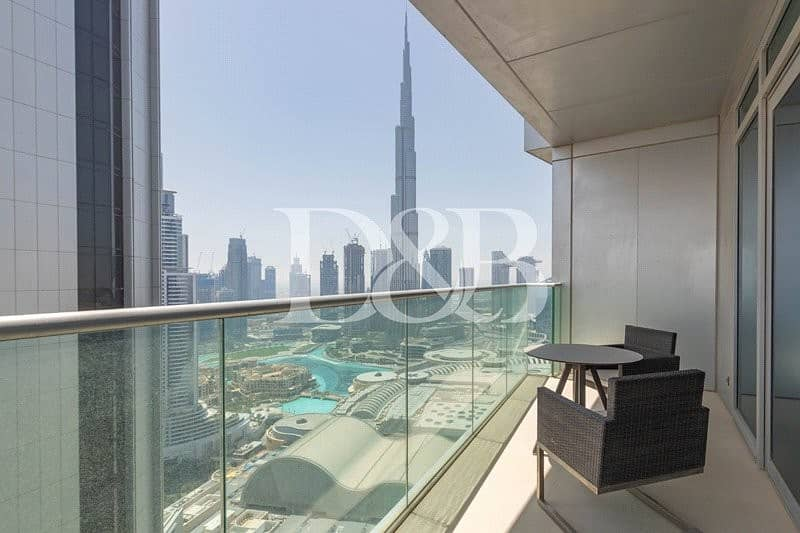 10 01 Series | Full Burj and Fountains View