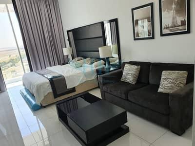 استوديو  للايجار في مدينة دبي الرياضية، دبي - Fully Furnished Studio I Full Golf View I Giovanni Boutique Suites