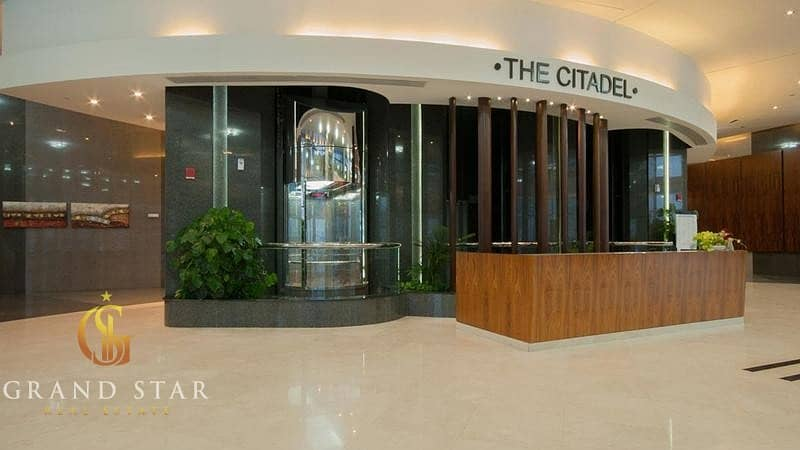 2 Business bay- Citadel - fully furnished office + 6 parking + Lake view