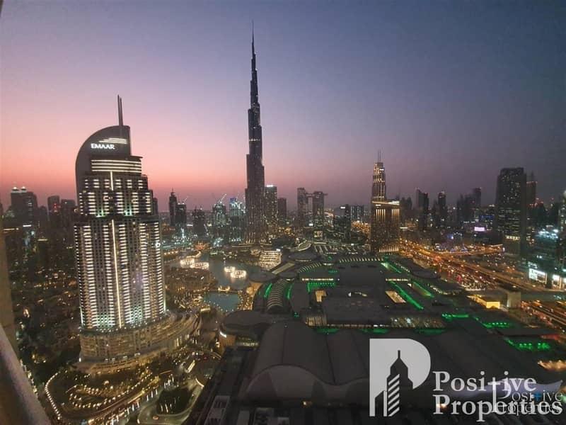 Beautiful Burj Khalifa view from a high floor
