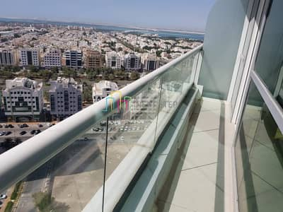1 Bedroom Flat for Rent in Danet Abu Dhabi, Abu Dhabi - Se a View: Astonishing 1 BR Apartment with Huge Balcony