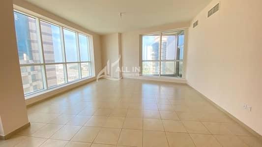 فلیٹ 3 غرف نوم للايجار في منطقة الكورنيش، أبوظبي - Extravagant 3BR with Open Balcony in Sea View!