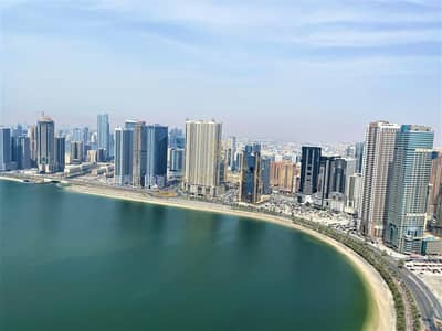 3 Bedroom Flat for Rent in Al Mamzar, Sharjah - View Today | Sea View 3BHK | AC + 2 Parkings Free