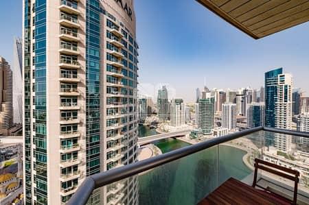 1 Bedroom Apartment for Rent in Dubai Marina, Dubai - Chiller free I Big furnished apt I Marina view I EMAAR