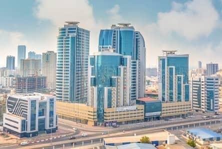 1 Bedroom Apartment for Rent in Al Bustan, Ajman - BIG DEAL 1 BEDROOM HALL PARKING IN ORIENT TOWER