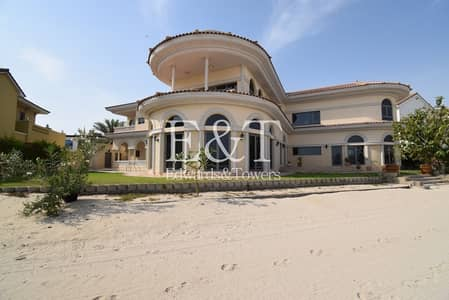 5 Bedroom Villa for Rent in Palm Jumeirah, Dubai - Tip Location | Open Water Views |Private Pool | PJ
