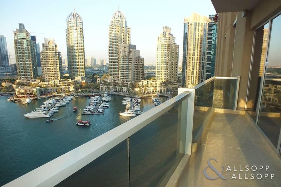 2 Mid Floor   Full Marina Views   3 Beds