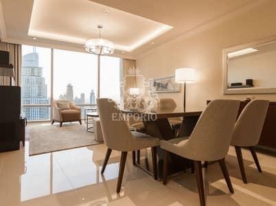 2 Bedroom Hotel Apartment for Rent in Downtown Dubai, Dubai - The Best View Of Burj Khalifa & Dubai Fountains