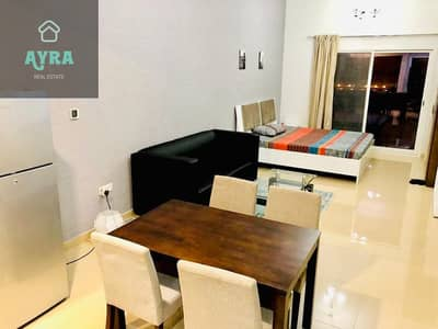 Studio for Rent in Jumeirah Village Circle (JVC), Dubai - LUXURIOUS FULLY FURNISHED STD WITH STUDY AND OPEN KITCHEN FOR JUST 34K IN 4 CHEQUES!